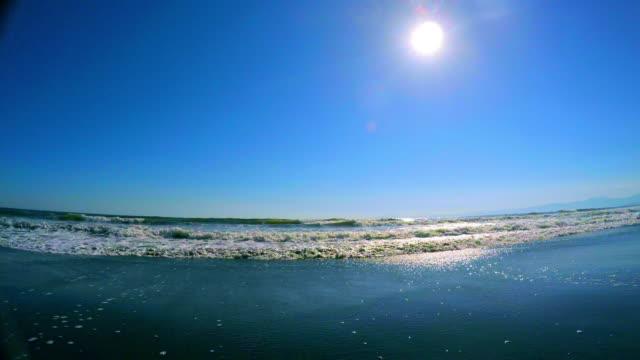 Wave on the beach -4K-