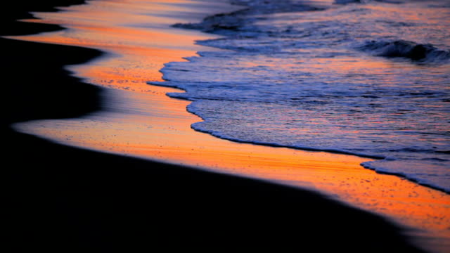 Wave on the beach at morning