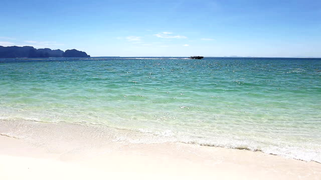 wave on the beach. - andaman sea stock videos & royalty-free footage