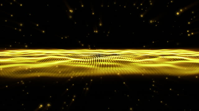 wave particle motion,gold background