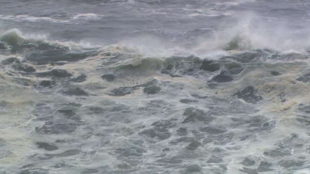 Wave rushing toward camera