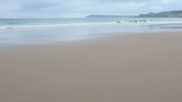 wave smash on  beach,Northern Ireland