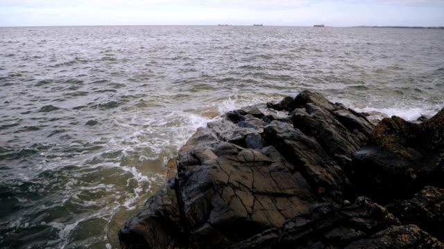 wave smashing the beach,Northern Ireland