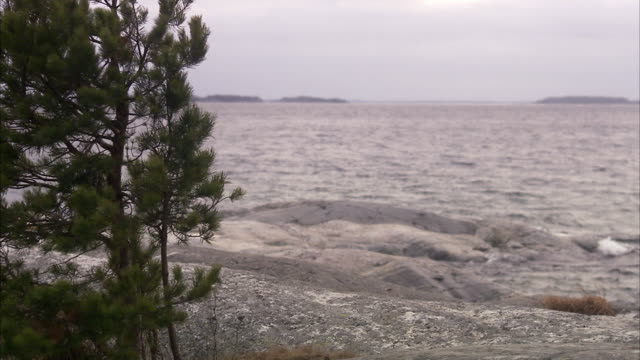 waves a cloudy day sweden. - haltbarkeit stock-videos und b-roll-filmmaterial