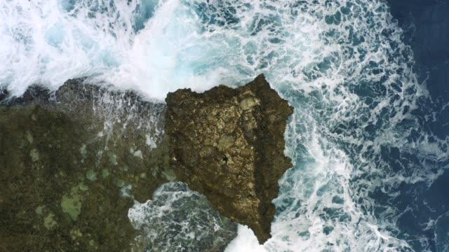 waves. aerial shot. - satoyama scenery stock videos & royalty-free footage