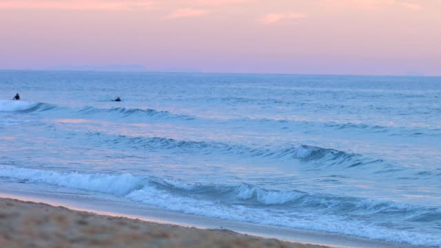 Waves at Lit-et-Mixe Beach, sunset
