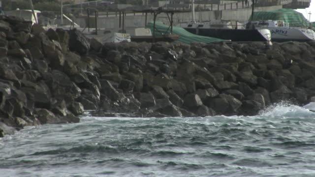 ms waves breaking against rocky shore, antofagasta, chile - antofagasta region stock videos and b-roll footage
