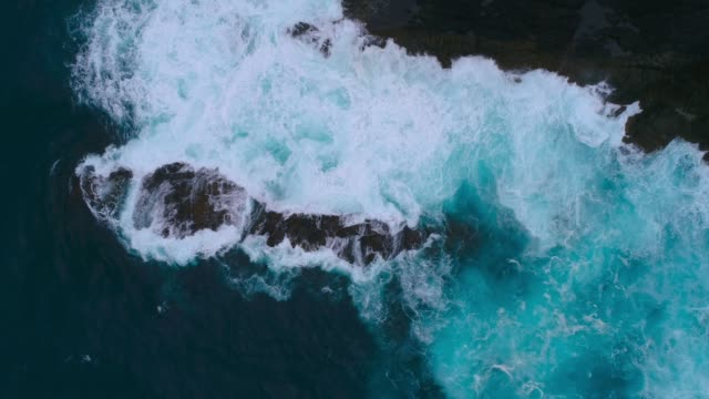 waves breaking in sea. - new zealand stock videos & royalty-free footage