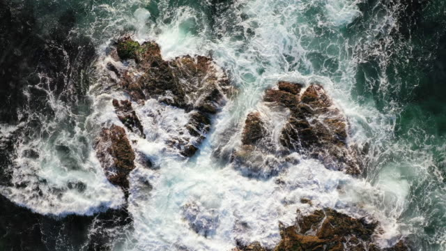 waves breaking on a beach / pohang-si, gyeongsangbuk-do, south korea - north gyeongsang province stock videos & royalty-free footage