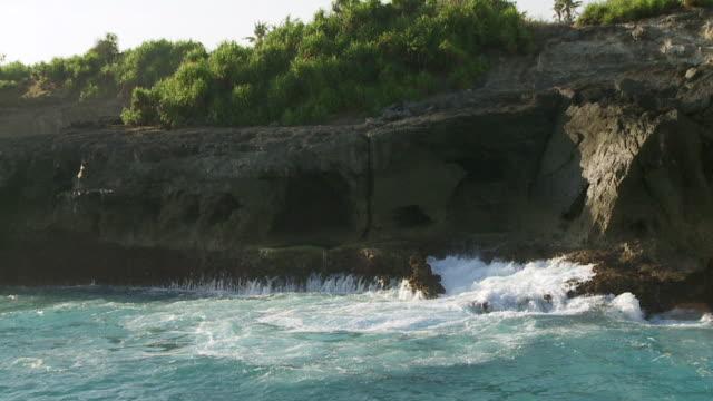 MS SLO MO Waves crashing against cliffs / Nusa Lembongan, Klungkung, Indonesia