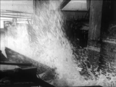 waves crashing on debris from damaged hotel / long beach, california / newsreel - 1926 stock videos & royalty-free footage