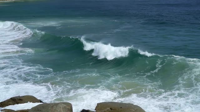 waves crashing on the shore - beauty in nature stock videos & royalty-free footage