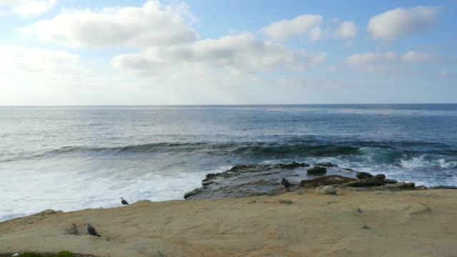 Waves crashing the rocks in 4K
