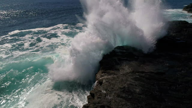 waves crashing - rock stock videos & royalty-free footage