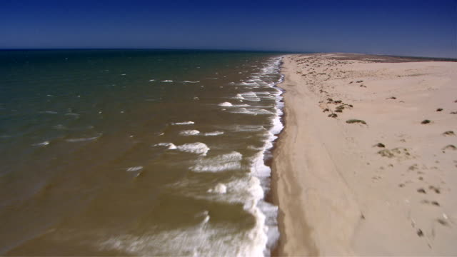 waves from the sea of cortez roll onto the california coastline. available in hd. - sea of cortez stock videos & royalty-free footage
