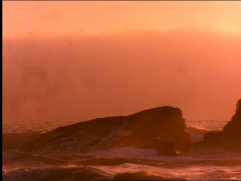 waves hitting rocks in pacific ocean / california - 2001 stock videos and b-roll footage