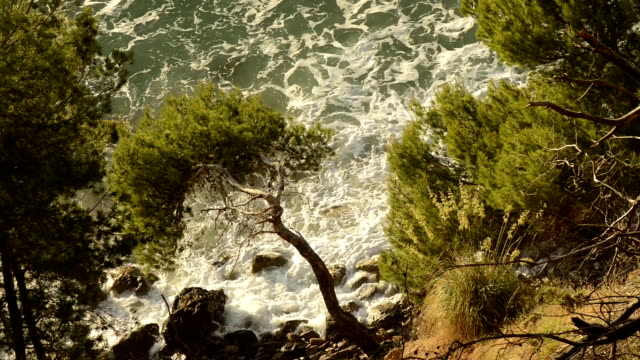 hd: waves in a mallorca beach - balearic islands stock videos and b-roll footage