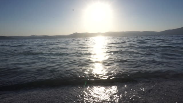 Waves in Lake Salda, Burdur, Turkey