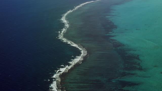 Waves Lap Edge Of Caribbean Atoll