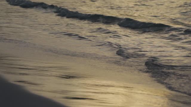 Waves Lapping on Beach at Dusk, Long Bay, Antigua, Caribbean