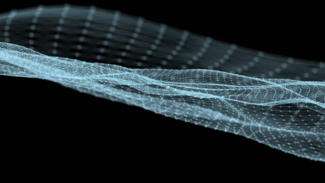 vídeos de stock, filmes e b-roll de ondas rede loop conectado que estão se movendo livremente - squiggle