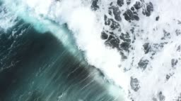 Waves Ocean Slow motion Aerial