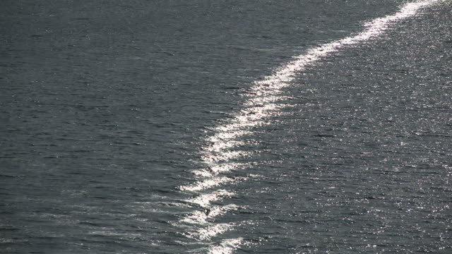Waves of a cruise ship on sea, North Atlantic, Norway, Scandinavia, Europe