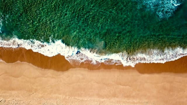waves of the sea in australia - directly above stock videos & royalty-free footage