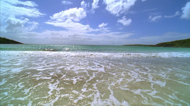 ms, waves on beach, vieques, puerto rico - puerto rico stock videos and b-roll footage