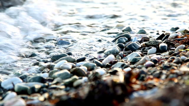 waves on rounded pebbles