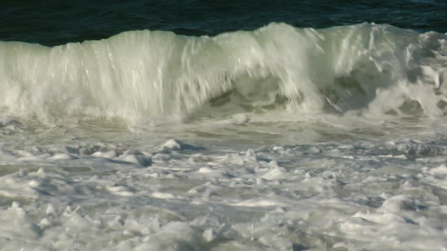 MS, Waves on shoreline, Cape Cod, Massachusetts, USA