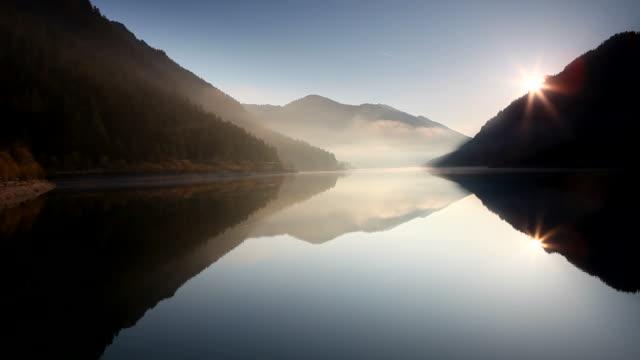 waves on the lake plansee, tirol, austria - pastel stock videos & royalty-free footage