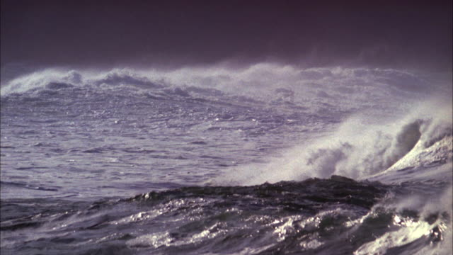 waves picking up on stormy sea available in hd. - ominous stock videos & royalty-free footage