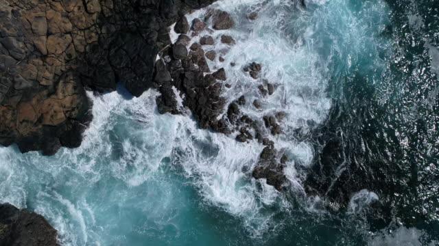 waves rocky beach