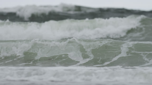 """waves roll in from atlantic ocean, nova scotia, canada - """"bbc natural history"""" stock videos & royalty-free footage"""