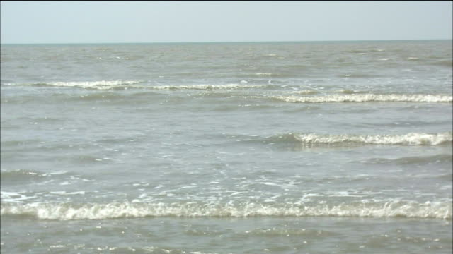 waves roll toward shore. - westbengalen stock-videos und b-roll-filmmaterial