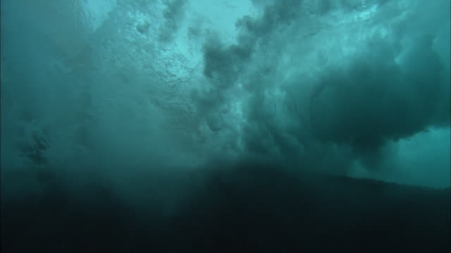 waves underwater, breaks and surge, mexico  - tide stock videos & royalty-free footage
