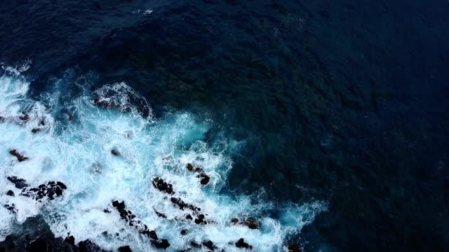 Waves Washing Over Rocky Outcrop on Maui Island