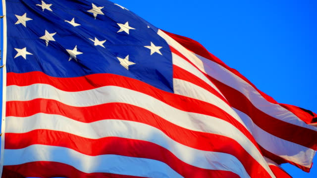 waving american flag - us flag stock videos and b-roll footage