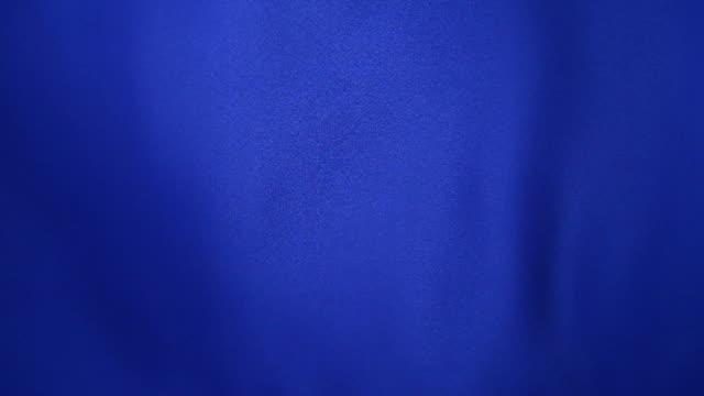 Waving blue satin