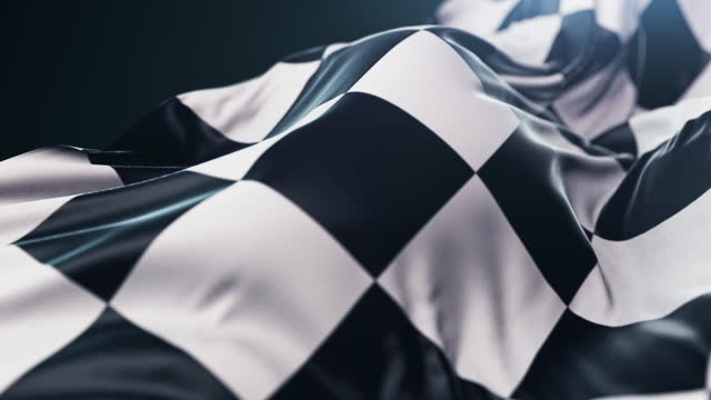 waving checkered flag - concept stock videos & royalty-free footage