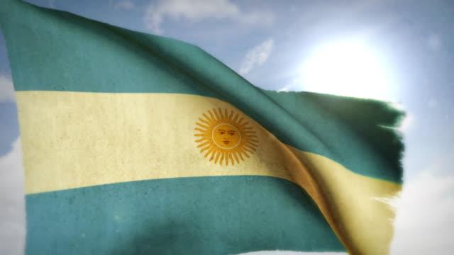 winken flagge-argentinien - argentinische flagge stock-videos und b-roll-filmmaterial