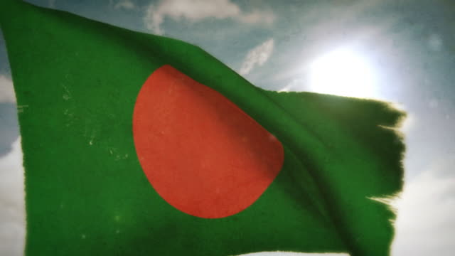 waving flag - bangladesh - flag of bangladesh stock videos & royalty-free footage