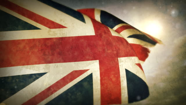 waving flag - britain - british culture stock videos & royalty-free footage
