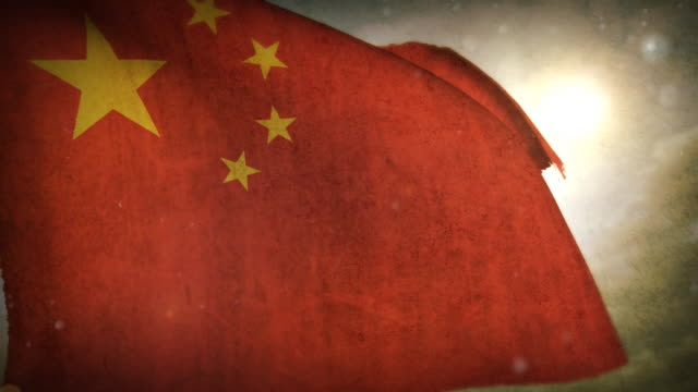 waving flag - china - chinese flag stock videos and b-roll footage
