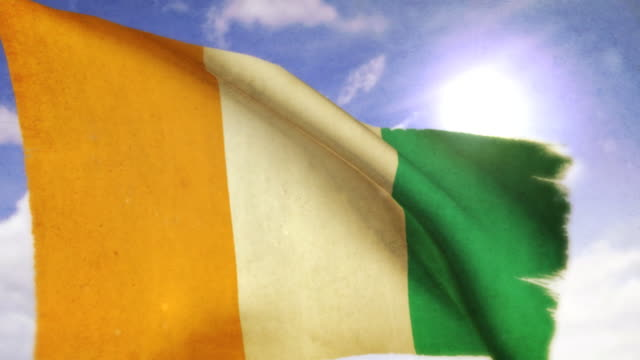 waving flag - côte d'ivoire - côte d'ivoire stock videos & royalty-free footage
