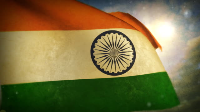 waving flag - india - indian flag stock videos & royalty-free footage