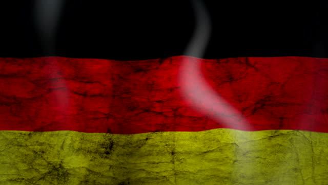 Wapperende vlag van Duitsland, grunge look