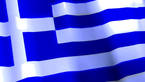 waving flag of greece - financial item stock videos & royalty-free footage