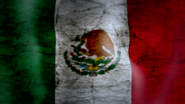 waving flag of mexico, grunge look - squiggle stock videos & royalty-free footage